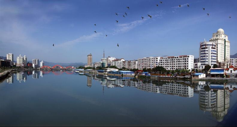 仙游兰溪全景图